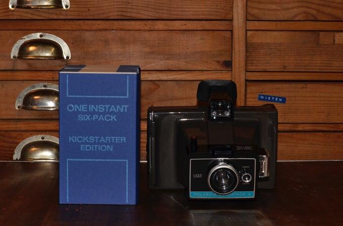 One instant peel apart film and camera