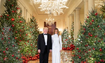 Why does the White House Christmas portrait look so weird?