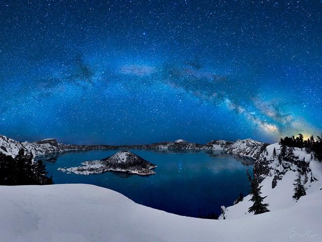 Clear stars on winter night