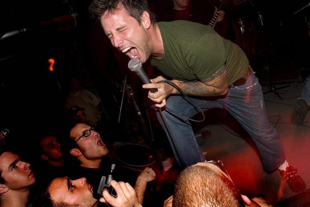 lead singer at rock show