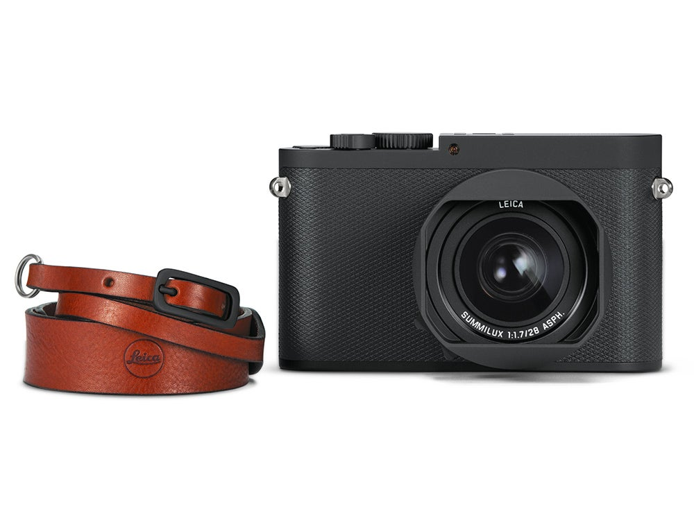 Leica Q Camera with leather strap