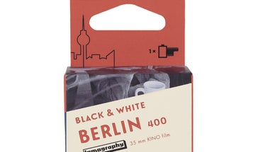Lomography's Berlin Kino 35mm monochrome film is cut from old cine film stock