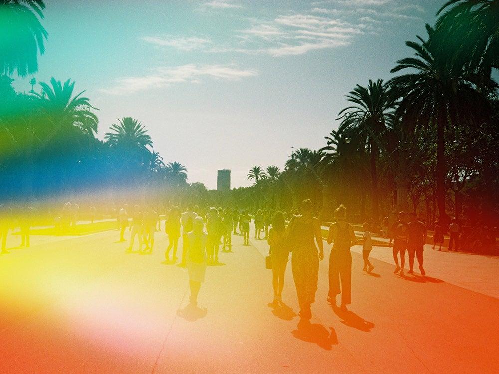 people on rainbow film