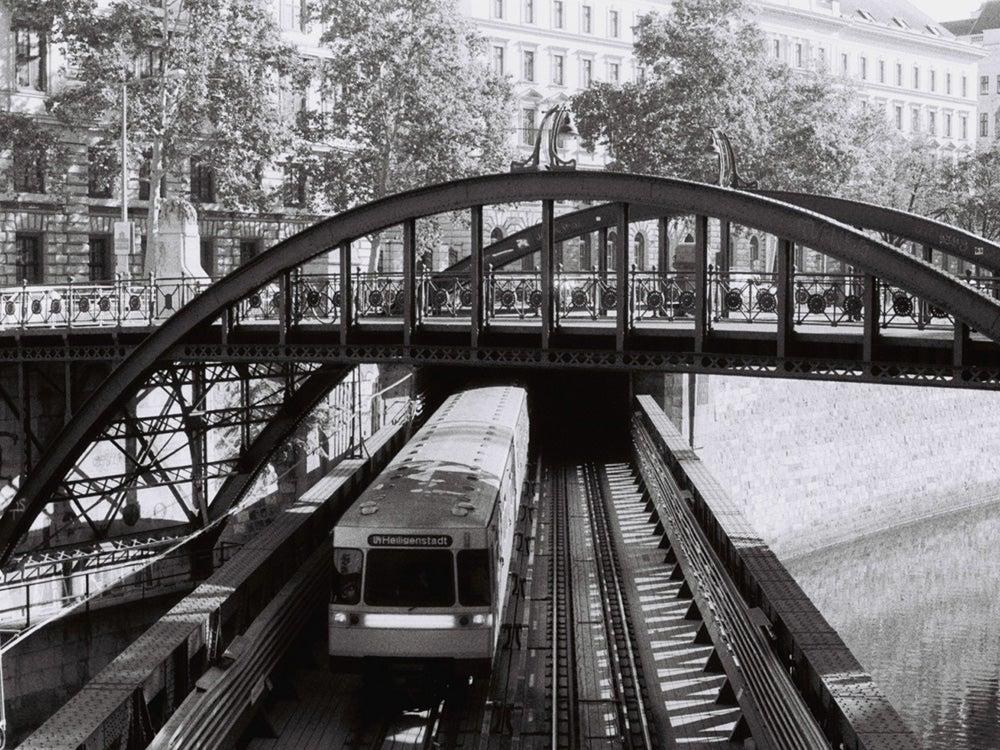 black and white german bridge