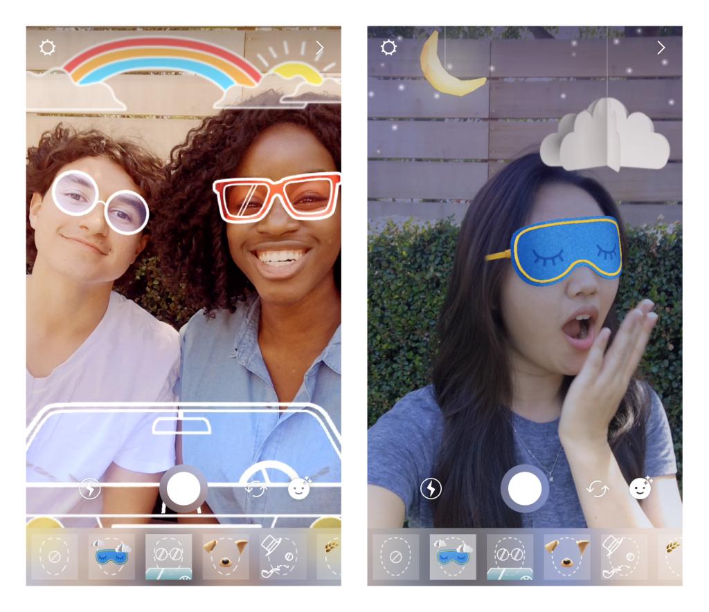 Instagram filter face masks