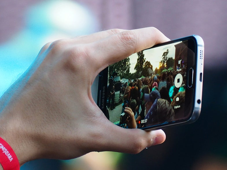 taking video on smartphone