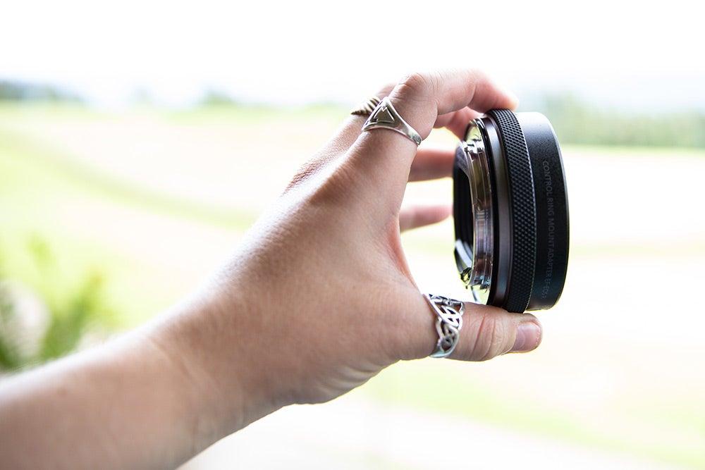 Canon EOS R full-frame mirrorless camera lens