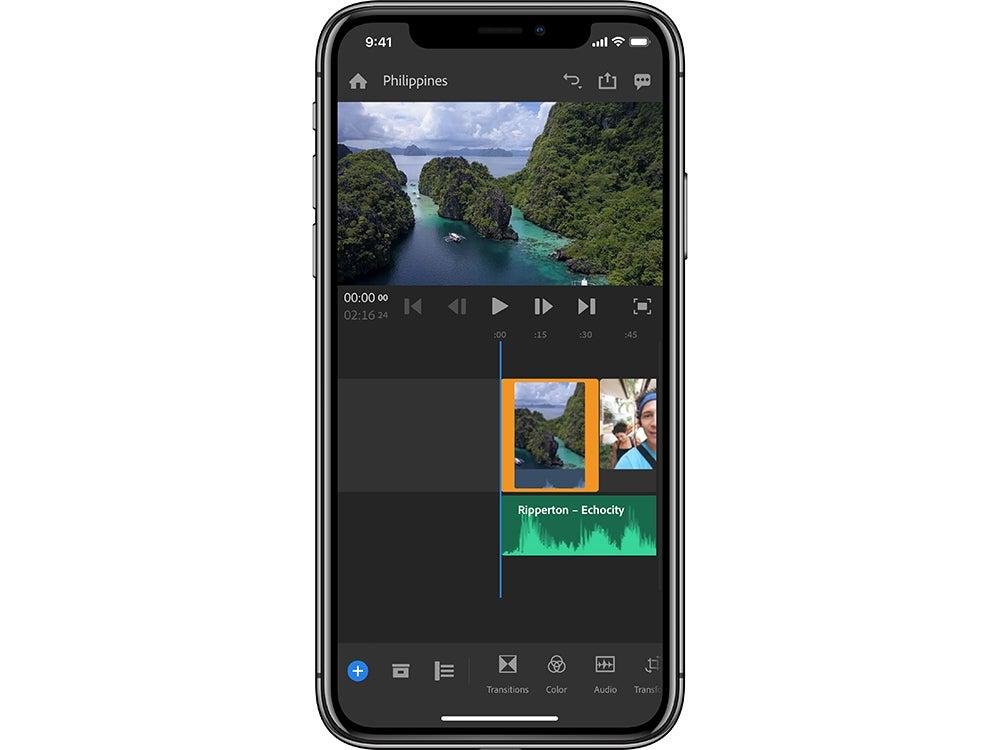 Adobe Premiere Rush CC on Iphone X