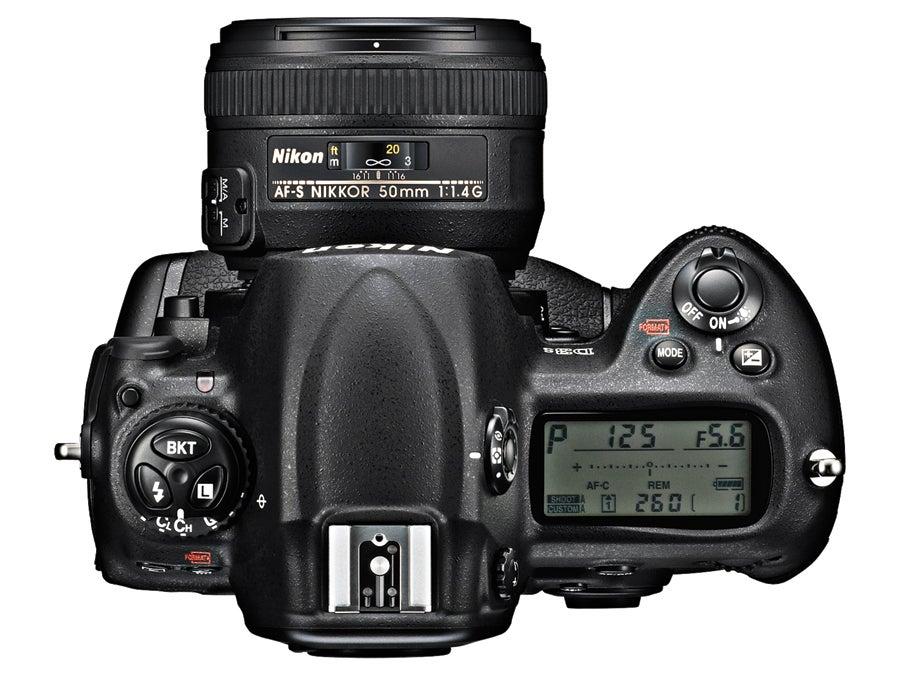 top view Nikon D3S