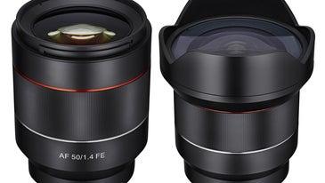 Samyang AF 50mm and 14mm Prime Lenses For Sony E-Mount