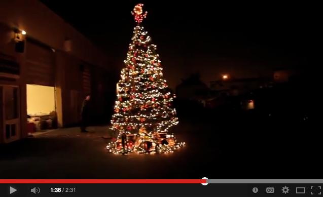 Custom SLR Christmas Tree made of Tripods