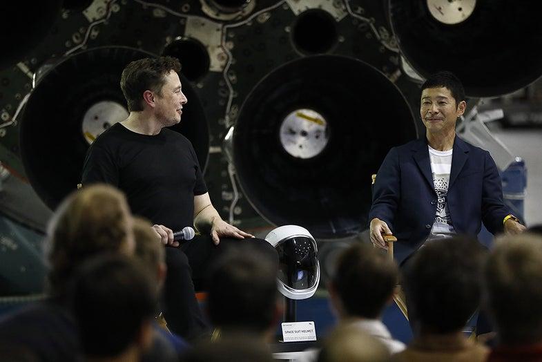 Elon Musk and Yusaka Maezawa