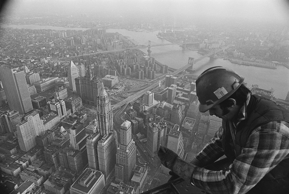 construction worker near world trade center