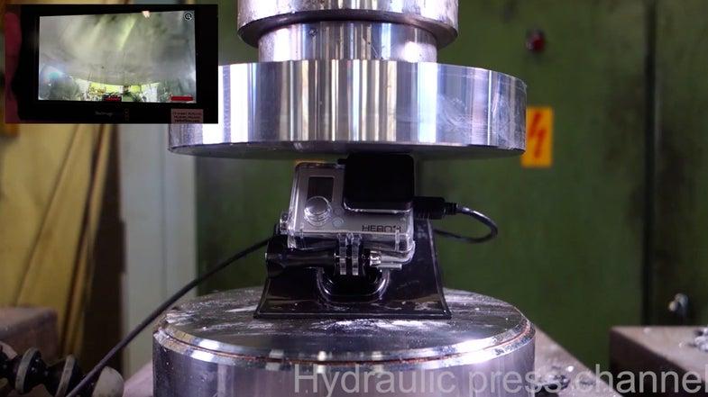Hydraulic Press Action Camera Destruction