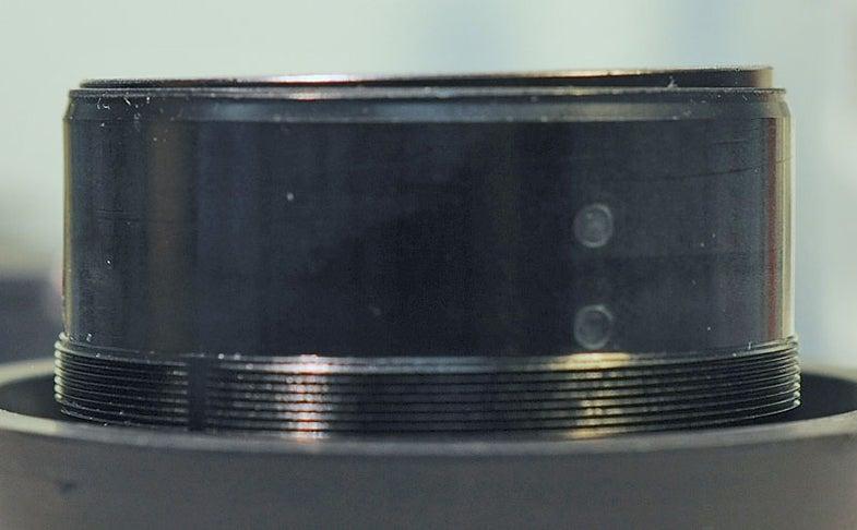 tilted lens