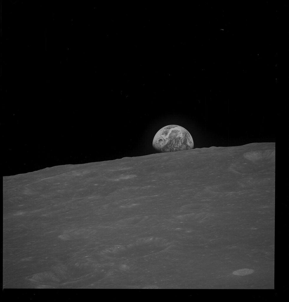 earth over moons horizon