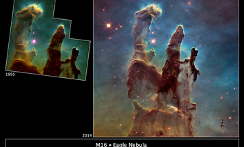 """NASA Releases """"Pillars of Creation"""" Image Captured by the Hubble"""