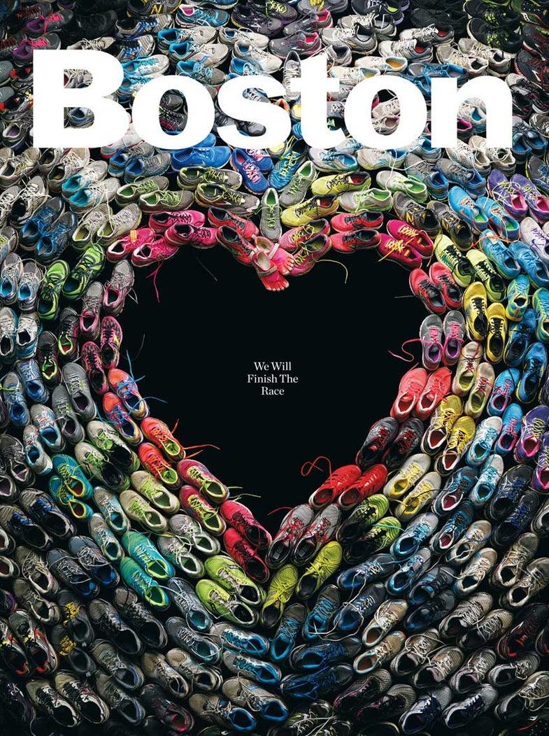 Boston Magazine Marathon Sneaker Tribute Photo