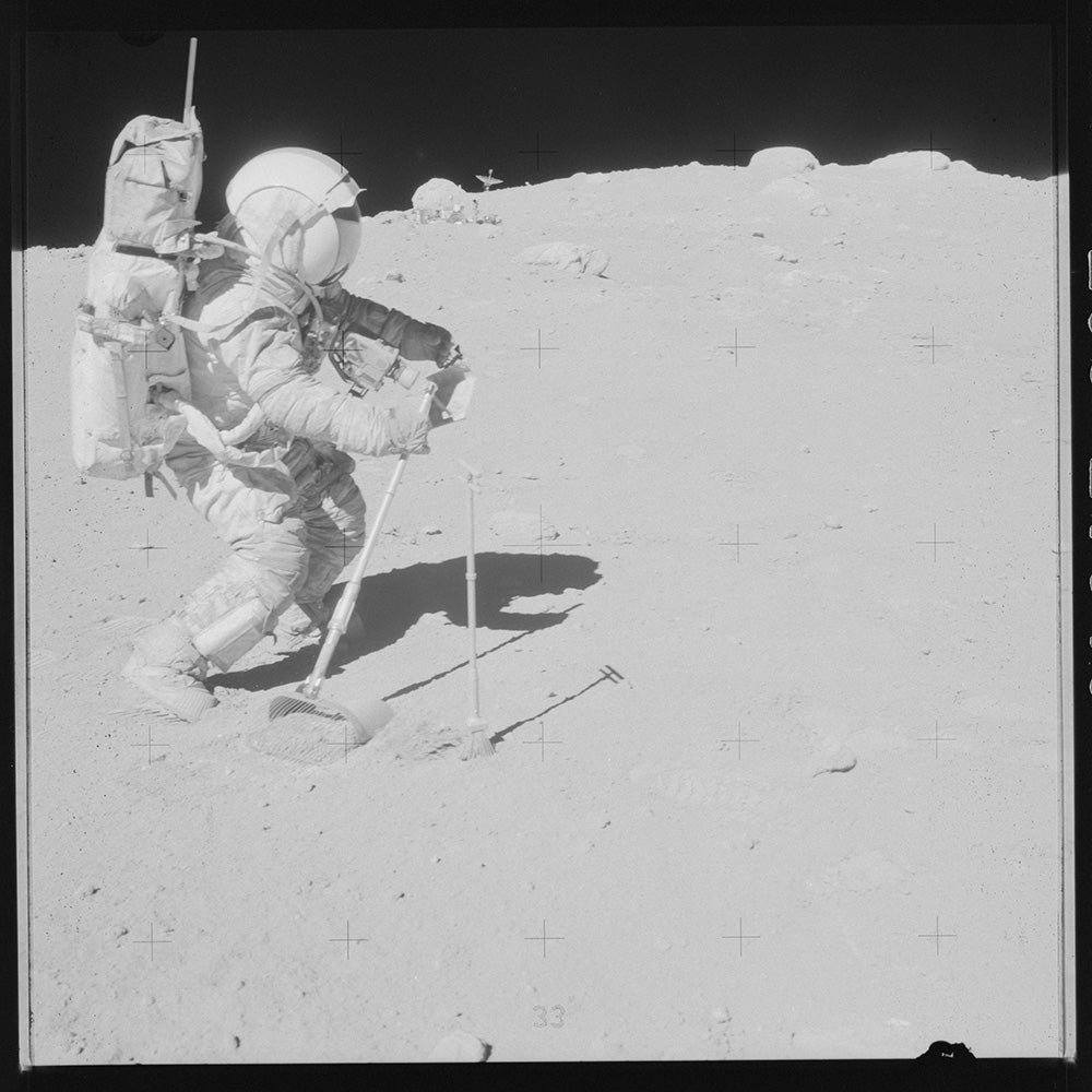 astronaut on the moons surface