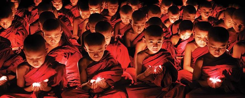Monks in Myanmar