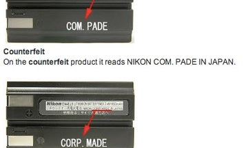 Nikon Warns About The Dangers of Counterfeit Batteries