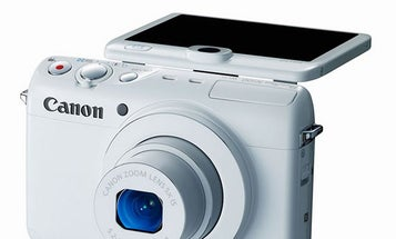 CES 2014 Canon PowerShot N100 Compact Camera With Rear-Facing Camera