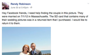 The Internet Helps Hunt Down Couple in a Viral Wedding Photo