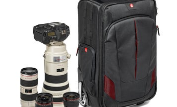 Manfrotto Pro Light Reloader-55 Rolling Camera Bag Fits Lots Of Gear And Big Lenses