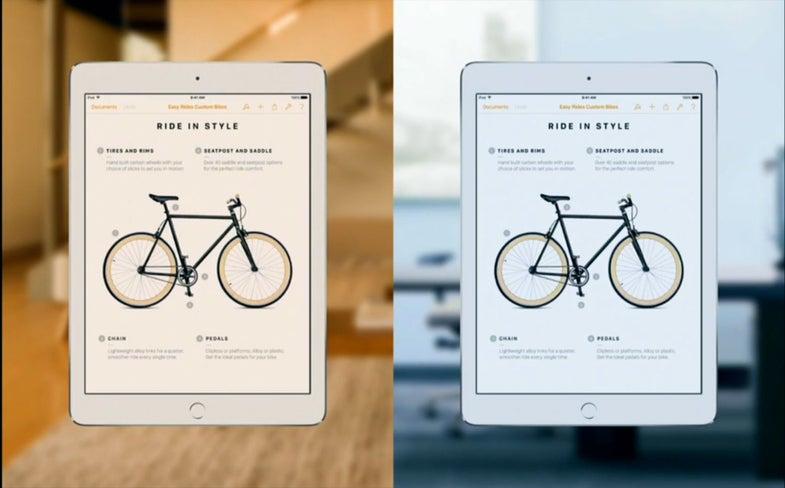 iPad Pro True Tone Feature