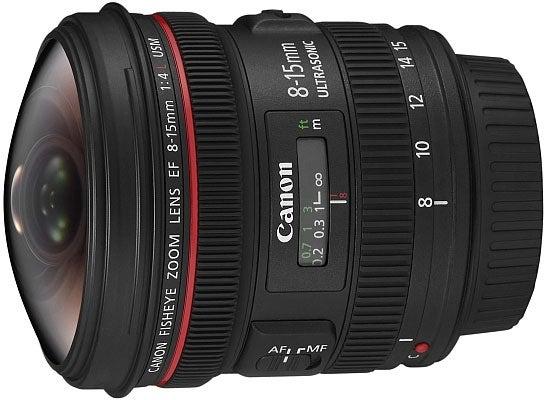 Canon EF 8–15MM F/4L Fisheye USM