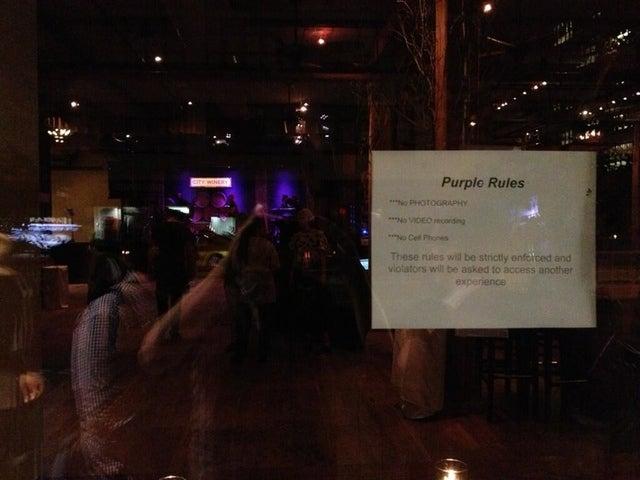 Prince's Purple Rules Ban Cameras
