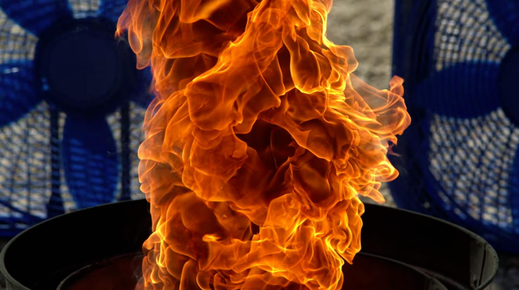 Fire Tornado in Super Slow-Motion