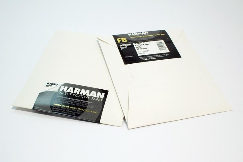 Ilford Direct Positive Harman Paper for Pinhole Photography