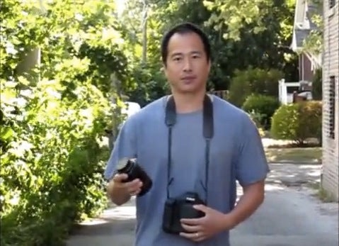 photographer lens drop