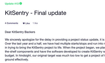 F-Stop KitSentry Bag Kickstarter Fails To Deliver, Backers Offered Credit Toward Other Bags