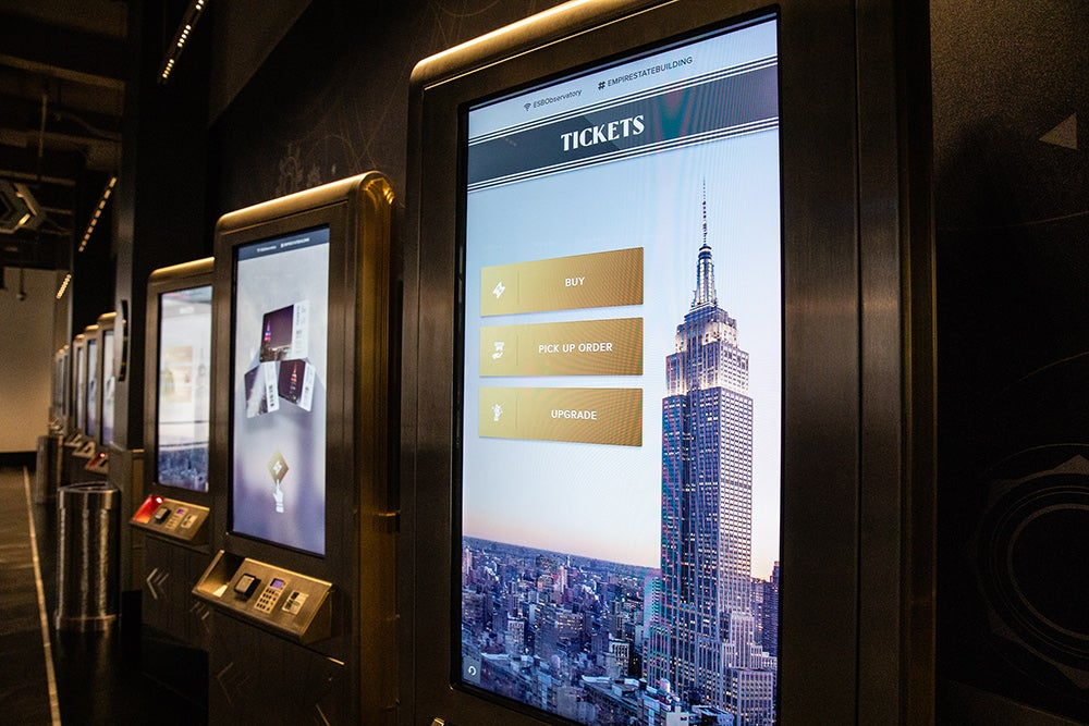 Empire State Building ticket screen