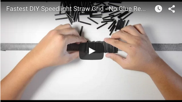 Video DIY Flash Grid Made from Straws