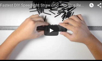 Here's How to Make a DIY Flash Grid From Drinking Straws