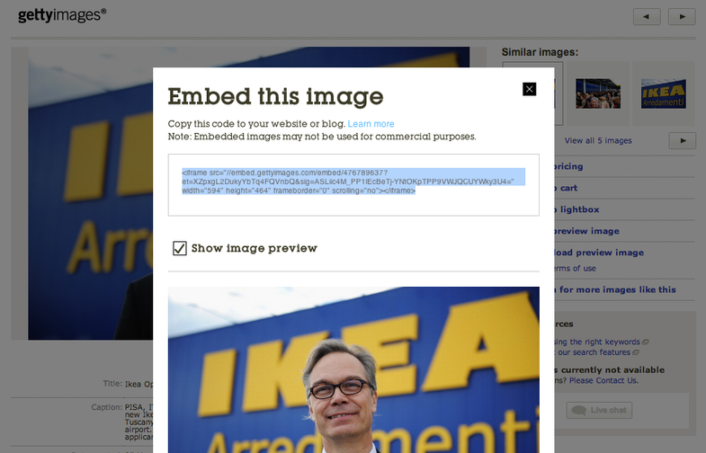 Getty Images Embedding