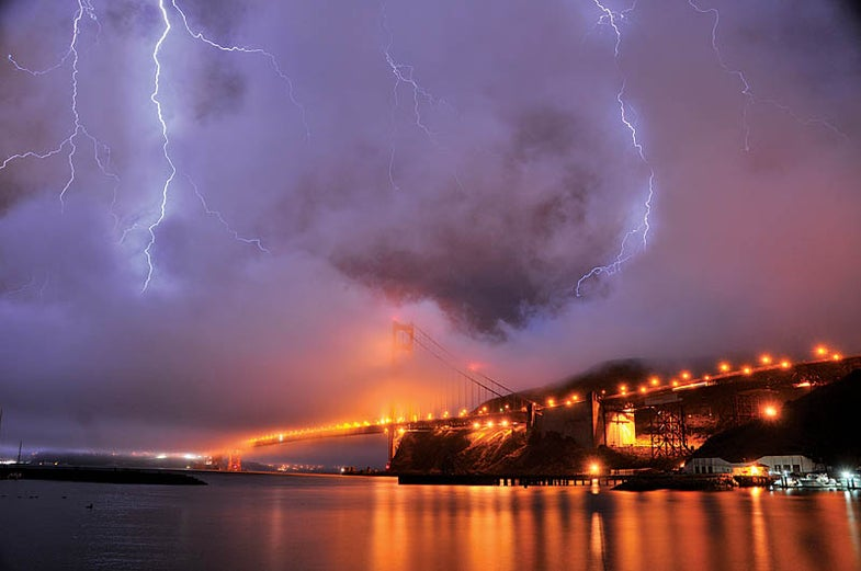 storm over the Horseshoe Bay