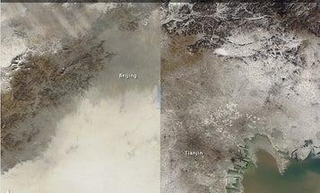 NASA Releases Satellite Photos Documenting China's Smog Problem