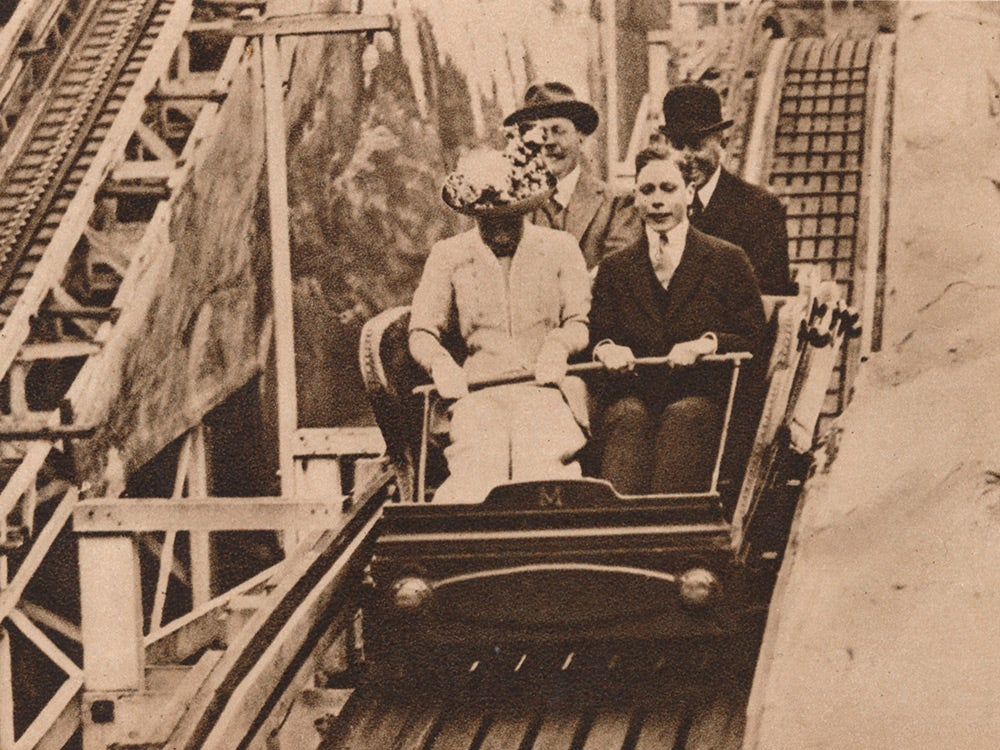 Prince George and Princess Mary enjoy the fun of the fair