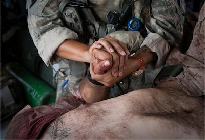 Wounded Marine