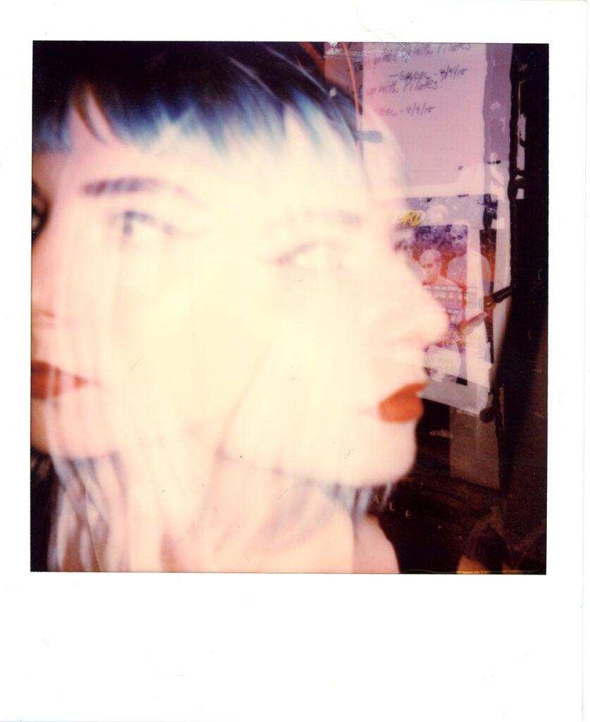 Polaroid Onestep+ sample double exposure