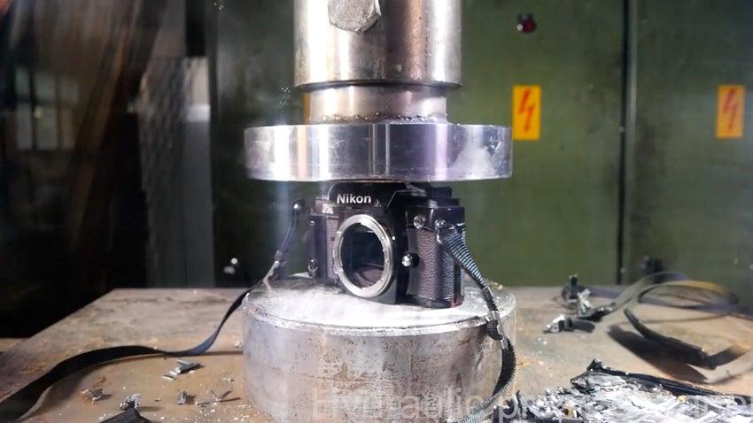 Hydraulic press camera