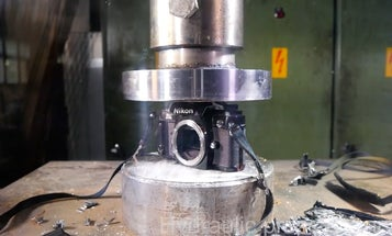 Watch This: Crushing Old Film Cameras with a Hydraulic Press