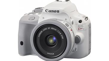 White Canon SL1 DSLR