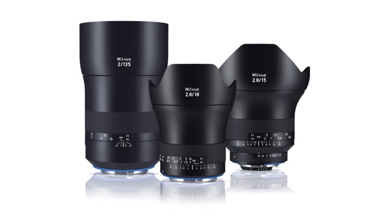 Zeiss Milvus 135mm f/2, 15mm f/2.8, and 18mm f/2.8 Prime Lenses