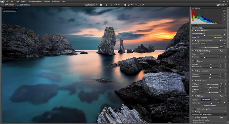 DXO Optics Pro 9.5 Photo Editing Software