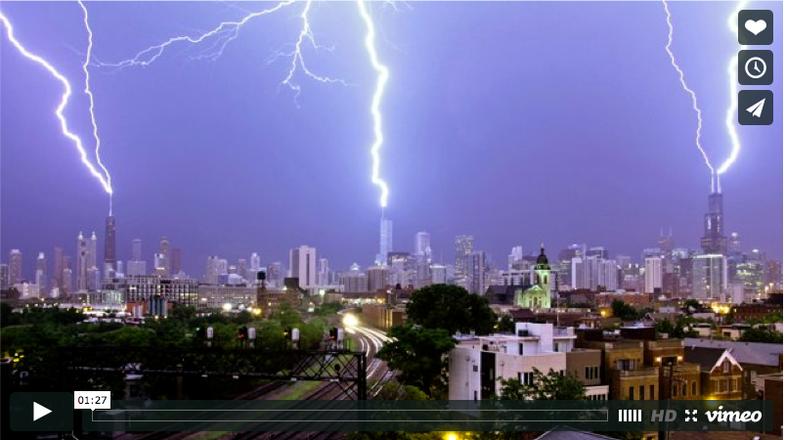 Chicago Lightning Time-lapse